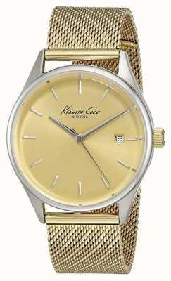 Kenneth Cole Para mujer esfera de oro malla de acero inoxidable dorado KC10029401