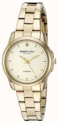 Kenneth Cole Dial oro de plata de acero inoxidable para mujer KC10026480