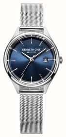 Kenneth Cole Para mujer esfera azul malla de acero inoxidable KC10030841