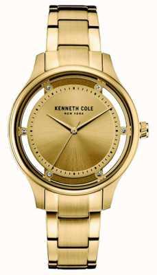 Kenneth Cole Dial de oro de acero inoxidable de oro de las mujeres KC10030797