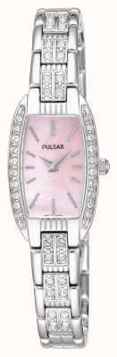 Pulsar Pulsera de las mujeres de acero inoxidable de color rosa madre de la línea de perlas PEGG75X1