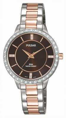 Pulsar Para mujer de línea pulsera de acero inoxidable de dos tonos PH8217X1