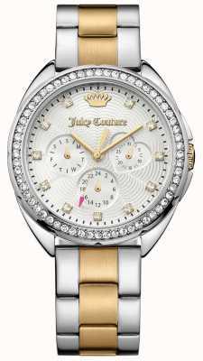 Juicy Couture Capri para mujer pulsera de plata de línea de acero inoxidable de dos tonos 1901481