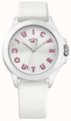 Juicy Couture Mujeres Fergie correa de caucho blanca esfera blanca 1901464