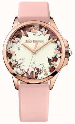Juicy Couture jet set correa de cuero para mujer de color rosa rosa del tono de oro 1901485