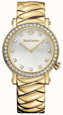 Juicy Couture Para mujer esfera de plata de acero inoxidable La lujo dorado 1901488