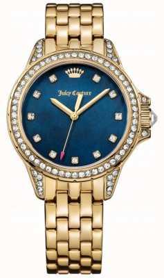 Juicy Couture Para mujer de acero inoxidable malibu dorado madre azul de la perla 1901492