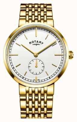 Rotary esfera blanca para hombre de Canterbury tono dorado de acero inoxidable GB05062/02