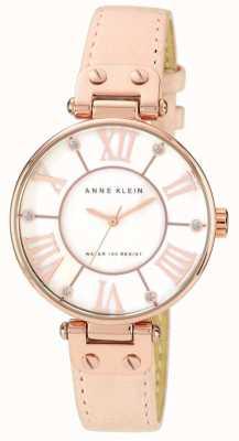 Anne Klein Correa de cuero rosa de la mujer de color crema 10/N9918RGLP