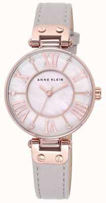 Anne Klein Correa de cuero gris mujer madre de la perla marcar 10/N9918RGTP
