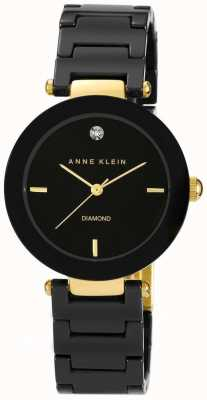 Anne Klein Correa negra de cerámica negra para mujer AK/N1018BKBK