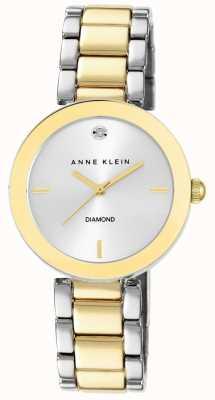 Anne Klein Mujer de dos tonos de plata pulsera dial AK/N1363SVTT