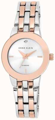 Anne Klein Mujer de dos tonos de plata pulsera dial AK/N1931SVRT