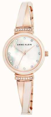 Anne Klein Pulsera de tono dorado rosa para mujer AK/N2216BLRG