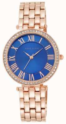 Anne Klein Pulsera de oro rosa mujer tono azul AK/N2230CBRG