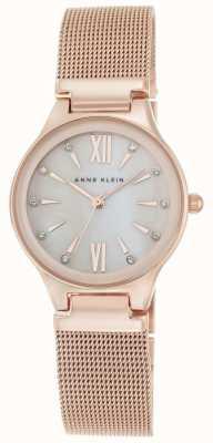 Anne Klein Mujeres de oro rosa malla tono madre de la perla marcar AK/N2418BMRG