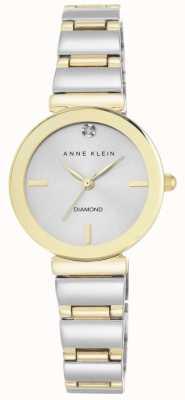 Anne Klein Mujeres dos tonos de plata pulsera dial AK/N2435SVTT