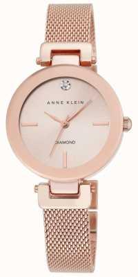 Anne Klein Mujeres rosa de oro malla rosa esfera de oro AK/N2472RGRG