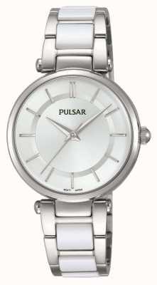 Pulsar Womans acero inoxidable y reloj blanco PH8191X1