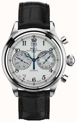 Ball Watch Company Correa del crockodile del cronómetro del canonball del entrenador CM1052D-L3J-WH