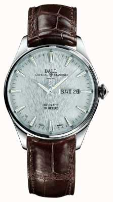 Ball Watch Company Trainmaster eternity correa automática crockodile plata dial NM2080D-LJ-SL