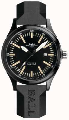 Ball Watch Company Bombero tren nocturno correa de caucho automático esfera negra NM2092C-P-BK