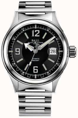 Ball Watch Company Bombero corredor automática de acero inoxidable pulsera dial negro NM2088C-S2J-BKWH