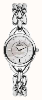 Michel Herbelin Para mujer madre de acero inoxidable de la línea de perlas 17475/B19