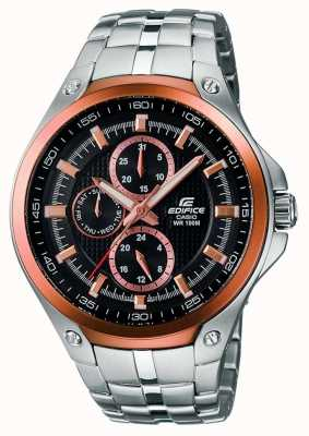 Casio Mens edfice acero inoxidable y chapado en oro rosa EF-326D-1AVUEF