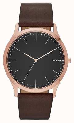 Para hombre de cuero marrón Skagen SKW6330