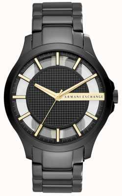 Armani Exchange Para hombre de acero chapado PVD negro AX2192