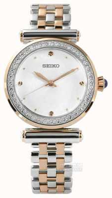 Seiko Para mujer en dos tonos de oro rosa SRZ466P1