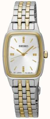 Seiko Tonneau de dos tonos para mujer SRZ472P1