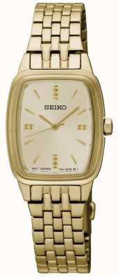 Seiko Para mujer de oro chapado de lona SRZ474P1