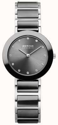 Bering La mujer de acero inoxidable de cerámica gris 11429-783