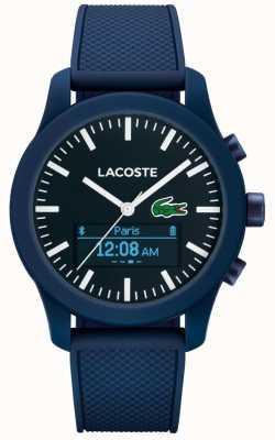 Lacoste Mens 12,12 contacto bluetooth reloj inteligente de goma azul 2010882