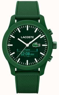 Lacoste Mens 12,12 contacto bluetooth reloj inteligente de goma verde 2010883