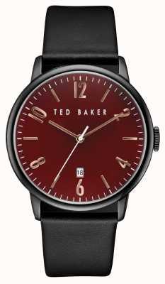 Ted Baker Para hombre chapado en caso de hierro negro TE10030754