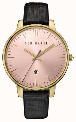 Ted Baker La mujer de cuero negro de línea correa de color rosa TE10030740