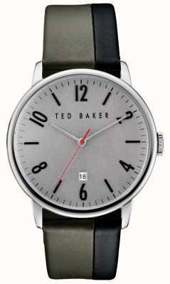 Ted Baker Mens caja gris de acero inoxidable TE10030757