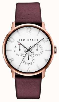 Ted Baker Caja de oro rosa con esfera multifunción para hombre TE10030765