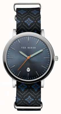Ted Baker Caja de acero inoxidable para hombre azul TE10030767