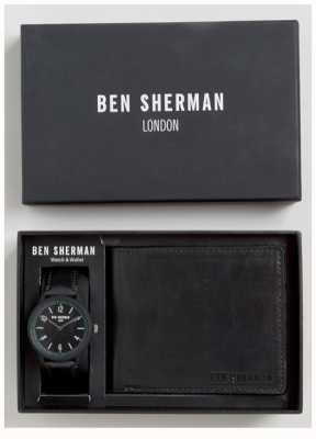 Ben Sherman Mens set de regalo monedero negro WB050BBG