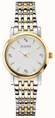 Bulova Womans galería diamante dos de reloj del tono 98S115