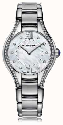 Raymond Weil Womans noemia madre de diamantes 62 de la línea de perlas 5124-STS-00985