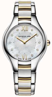 Raymond Weil Womans noemia acero inoxidable dos tonos 10 diamantes perla dial 5132-STP-00985