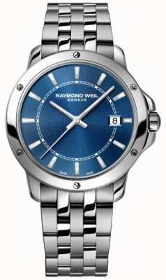 Raymond Weil Esfera de índice para hombre azul acero inoxidable tango 5591-ST-50001