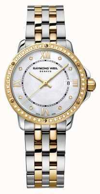 Raymond Weil Mujer tango dos tonos diamante punto madre perla 5391-SPS-00995