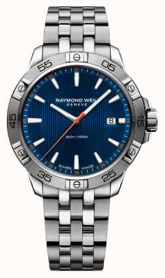 Raymond Weil Mens tango 41mm acero inoxidable azul índice dial 8160-ST2-50001
