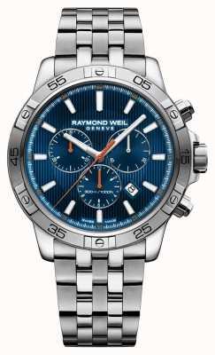 Raymond Weil Hombres tango 43mm azul chrongraph dial acero inoxidable 8560-ST2-50001
